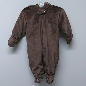 Hooded Baby Bear One Piece Suit/Snowsuit